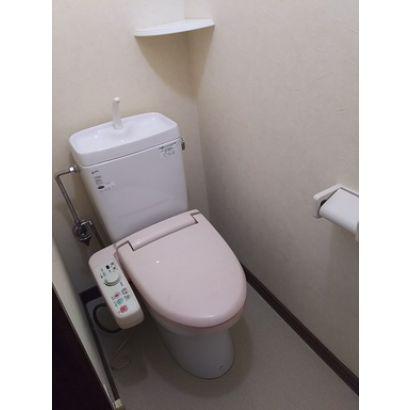 水洗トイレです。ウォシュレットです。