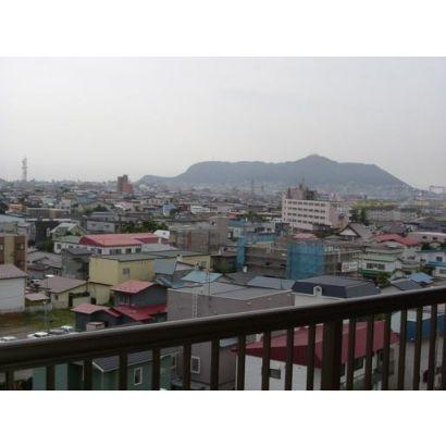 函館山が見えます
