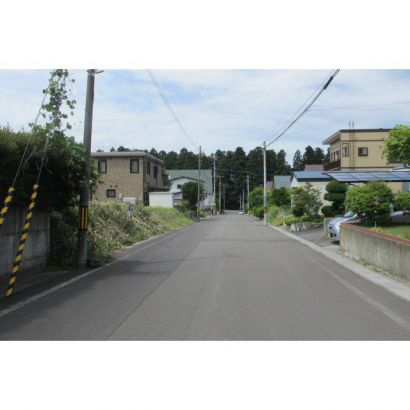 前面道路役場方向