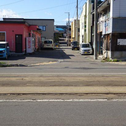 前面道路(市電道路からの写真)