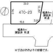 敷地と道路の関係図