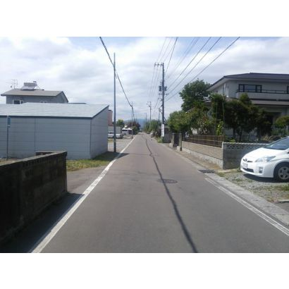 町道です。