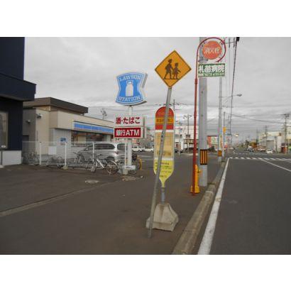 コンビニ/バス停